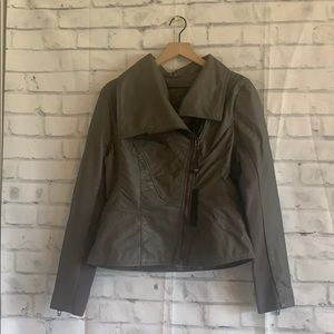 NWT Blank NYC Gray Vegan Leather Jacket
